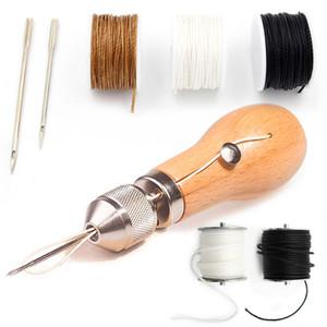 Professional Leathercraft Sewing Stitching Awl Tool Supplies,DIY Leather Craft Heavy Fabric,Canvas,Shoe,Repair Lockstitch Set