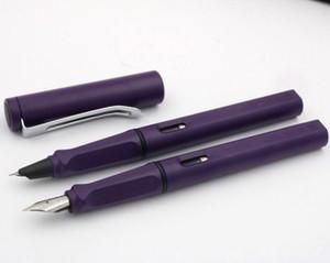 JINHAO NUOVO 599 studenti penna di plastica opaca viola Rotazione coperchio Silver Fountain Pen