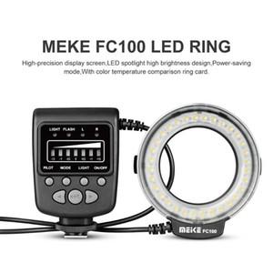 و speedlite LED ضوء فلاش الدائري و speedlite حلقة التعبئة مصباح MEIKE FC100 واحدة الاتصال شعبي نوع العالمي دليل لكاميرا DSLR