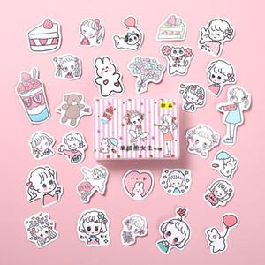 Diy Scrapbooking cellulaire Diary Cute Girls Bâton Journal décoratif album Bullet Papeterie Lable Autocollants seul Kawaii Mini VQtJc