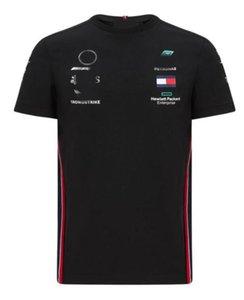 equipe de F1 Mercedes Mercedes-Benz AMG de poliéster 2020 de secagem rápida de manga curta T-shirt traje de corrida da equipe terno com o mesmo costume