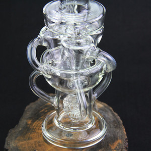 Klein Recycler Tornado Percolator Glass Bong Wax Pipe Bongs Water Pipes Oil Dab Rigs With Heady Quartz Banger Or Herb Bowl dabber nail