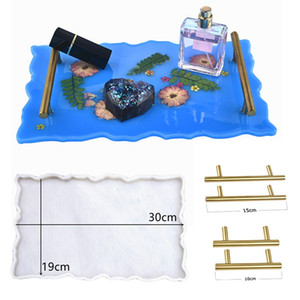Bandeja de frutas Mold Tea Tray Glue Mold Bandeja Silicone Mold Coaster Silicone Moldes Art Craft Ferramentas de jóias de exibição