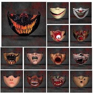 Новый Хэллоуин особого ужас персонализированной печати взрослых маски пылезащитной и анти-дымка хлопка маска РМ2,5 фильтр дышащая маска