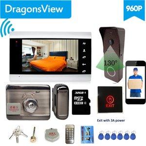 Dragonsview 7 pouces Wifi vidéo Intercom Avec verrouillage Wirelesss vidéophone Interphone Unlock Sonnette avec enregistrement caméra