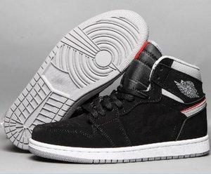 Yeni 1 1'lerin j1 basketbol ayakkabıları İlk 3 yasaklandı yetiştirilen kraliyet ters backboard Siyah Burun Metalik Nakeskin paramparçaÜrdünRetros Boyut