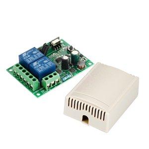 200Pcs Lot 433 Mhz Universal Wireless Remote Control Switch AC 85V ~ 250V 110V 220V 2CH Relay Receiver Module