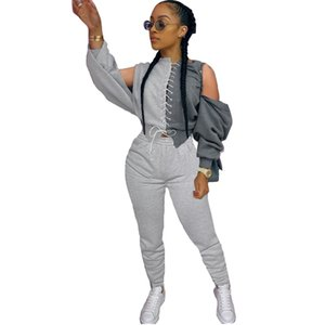 Two Piece Set Women Long Sleeve Backless Lace Up Tops And Pencil Pants Outfits Autumn Fashion Sexy Tracksuit 2 Piece Set X0923