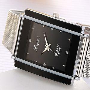 2020 Rectangle Women Watches Luxury Fashion Brand Watches Women Quartz Wristwatch Clock Ladies Dress Gift For Girls Watches Reloj Mujer