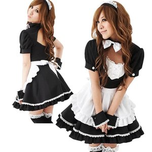 Nuovo sexy Lolita French Maid Cosplay Dress Halloween Uniforme calda