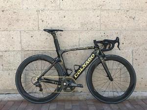 105 r7000 veya Ultegra Groupset ile 2021 Altın Colnago kavramı Karbon Yol Bisikleti Bisiklet Mağazası Komple Bisiklet