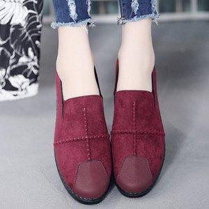 2020 New Classic Spring New Ленивый One Foot вскользь Женская обувь дышащая ткань обувь Женская мода Flat Tide BONU #