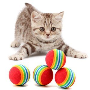 Diameter 35mm interesting Pet Toy dog and cat Toys Super cute Rainbow Ball toy Cartoon plush toy