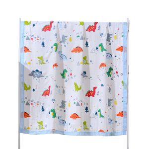 New Baby Bath Towel Muslin Cloth Kids Bathrobe Child Blanket Wrap for Newborn Infant Toddler Boys Girls Gauze Cotton 110*120cm