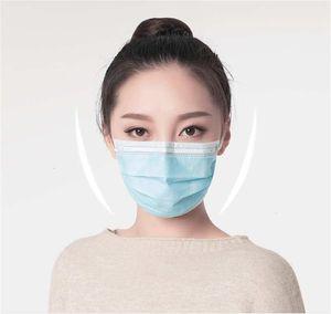 Karbon Stok Aktif Dokuma Katman earloop Sigara 87u1 Toz 3 Fa Kn 95 Seviye Hood Maske Maskeler Nakliye Siyah Mavi