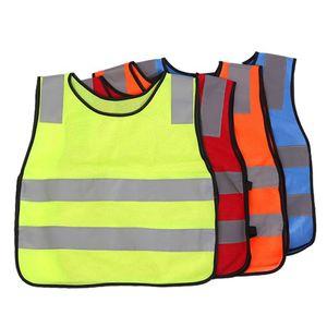 Children Student Kid Vest Reflective Visibility High Traffic Safety Vest kids Reflective Vest jackets 4 COLORS KKA3004-1