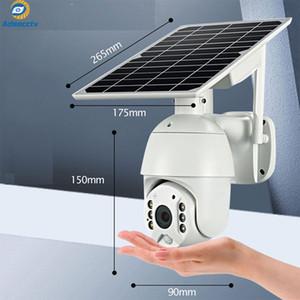 방수 IP67의 PTZ 카메라 태양 전원 1080p의 IP 와이파이 무선 카메라 배터리 지원 모션 센서 감시 보안 카메라