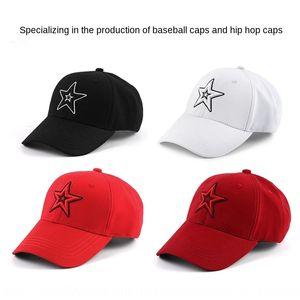 RuxsQ respirable cómodo de béisbol gorra de béisbol al aire libre de los deportes de ocio delicados cap estrella de cinco puntas sombrero bordado suave