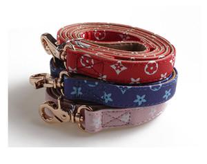 DHL RTS luxo Designer Dog Collar Pattern Pu couro Animais Coleiras ajustável personalidade da marca Cat trelas Outdoor Acessórios Coleira