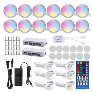 LED lumière Cabinet RGBW / RGBWW 4/5/6/8/10/12 Lampes Linkable Sous un éclairage compteur avec télécommande pour armoire de cuisine
