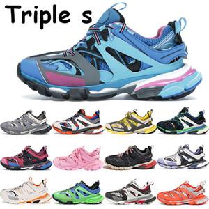 2020 Тройной трек повседневная обувь мужчины женщины платформы кроссовки бегун глубокий розовый зеленый белый оранжевый синий желтый черный красный серый марочные тренеров