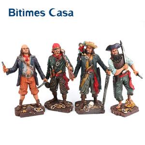 Bitimes figurina in resina Caribbean Pirates Statua Mediterraneo decorazione della barra Artigianato Figurine ornamenti decorazioni domestiche