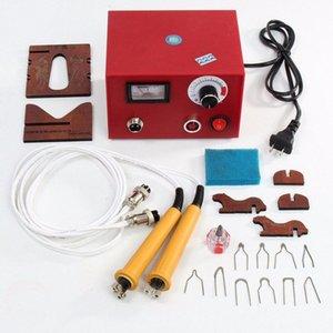 WOLIKE 220V multifunzione professionale pirografia macchina zucca Legno pirografia Crafts Tool Set Kit Elettrocauterizzazione macchina della penna UUZd #