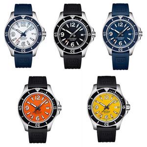 High quality superocean man Watch36 42 44 46mm leather steel belt automatic mechanical quartz movement full working watch luxury wrist aHh0#