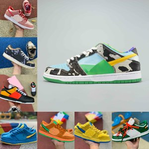 Nouveau SB Dunk Low Chunky Dunky Sp Chaussures de course Travis Scotts Dunks Brésil Safari Raygun Tie Dye Muslin infrarouge Strangelove Chaussures Planches à roulettes
