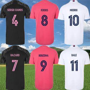Real Madrid SERGIO RAMOS Fußball-Trikot 2020 21 VINICIUS JR. JAMES BALE MARCELO ISCO ASENSIO KROOS GEFAHR BENZEMA MODRIC Fußballhemd