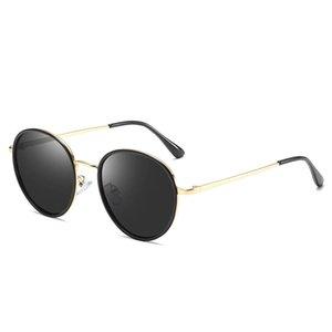 FONDYI mayorista polarizada linda diseñador Gafas de sol redondas Moda UV400 del metal de las señoras de moda gafas de sol con la caja
