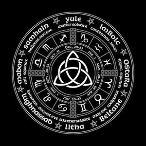 Das Triquetra Schwarzes Tuch Pagan Kartenrad Jahr Brettspiel Pagan Tarot-Karten Triquetra Tischdecke Von qylcug allguy