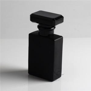 30ml claras e preto de vidro Refill Spray de garrafas de perfume recarregáveis vidro Automizer Esvaziar recipiente cosmético para pulverização de viagem