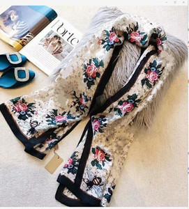 sciarpa di seta Designer per l'anello lungo Pashmina moda delle donne di vendita calda di lusso scialle Bee Stampato sciarpe regalo di Natale Dropship A169