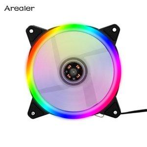 RGB Fall Lüfter Kühler Kühler-Lüfter-Fall Cooler Silent-Computer-12cm Mute mit bunten Licht 5 Fans
