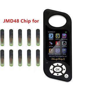 CBAY 핸디 아기 자동차 키 프로그래머 복사 JMD 핸디 아기 자동차 키 프로그래머 ID48 복제 칩에 대한 10PCS / 많은 JMD 48 ID48 JMD48 칩