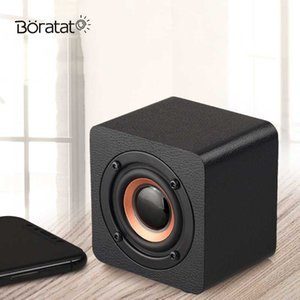 Portable Mini Wireless Bluetooth Speaker Wood Round Small Speaker Built-in Battery Home Audio