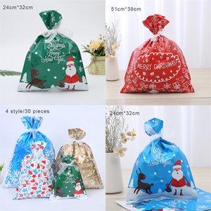 4-Farben Hanf Bundle Tasche Weihnachtsgeschenk-Tasche Draw-Line-Süßigkeit-Geschenk Verpackung Leinenbeutel Punkt 24 1Pcss pro Set # 29522