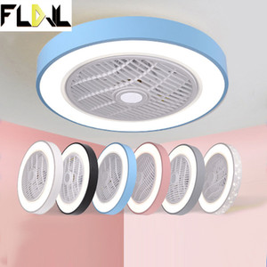 smart ceiling fan fans with lights remote control bedroom decor ventilator lamp 50cm air Invisible Blades Retractable Silent