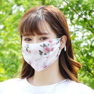 Máscaras de sol del diseñador ajustable de gasa impresa protección UV máscara a prueba de polvo fino de verano transpirable cara de la manera Designermask