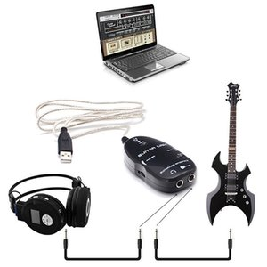 100set lot USB GUITAR CABLE Electric Guitar Link Audio Cable Interface link Lead to Computer