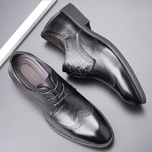 Hot sale-2020 New hot Fashion 37-44 new men's leather men's shoes overshoes British casual shoes free shipping Espadrilles Forty-seven