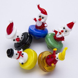OD 24mm Smoke Universal glass carb cap Christmas Gift Snowman for Quartz banger Nails water pipes, dab oil rigs bong
