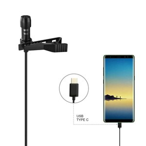 Mini Lapel Lavalier Clip-on Recording Microphone Mic with Type-C Plug for Huawei Mate 20 Android Smartphone USB Microphone