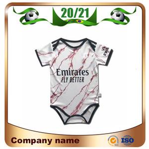 20/21 Gunners Away Baby Soccer Jerseys 2020 Arsen Pepe Nicolas Ceballos Henry Guendouzi Sokratis Tierney 9-18 Mesi Camicia da calcio bambino
