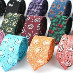 New Floral Mens Tie Jacquard Woven Silk Neck Tie 6cm Vintage Print Paisley for Men Suit Business Wedding