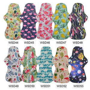 13'' Flamingo Printed Night Use Reusable Menstrual Pads for Heavy Flow Large Size Breathable Women Cloth Pads Lining Waterproof