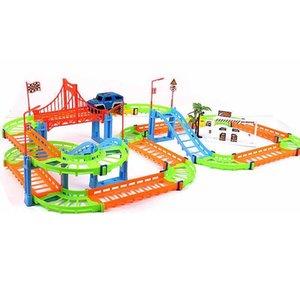 DIY 3D Разнообразие Электрический Трек вагоностроительный Speed Rail Поезд Модель Красочные гонки Собирают Развивающие игрушки Подарки для детей