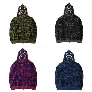 가을 겨울 새로운 연인 전체 지퍼 카디건 카모 인쇄 후드 스웨터 남성면 높은 품질 사막 카모 테리 느슨한 후드 # 604