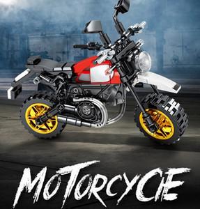 Sembo 701117 Mechanical Code Series Motorcycle building blocks bricks set Classic education model baby toys children gift
